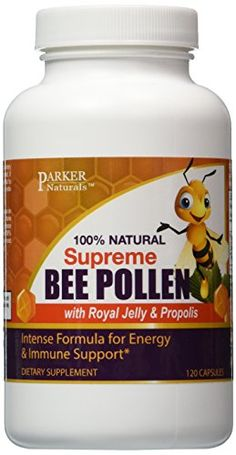 Parker Naturals Bee Pollen, Royal Jelly and Propolis - 120 Vegan Capsules of 100% Natural Nutrients that Increase Energy, Help Allergies, Promote Wellness - Guaranteed Effective ** Be sure to check out this awesome product.
