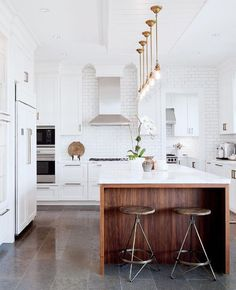 Friday vibes! Gorgeous kitchen right?! What's your favorite about it? Happy weekend friends! #kitchendesign /