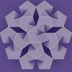"""Jan.31.2018- #dailyVectors day 302 - Monthly theme """"Ultra Violet """" based on the Pantone color of the year; built in @adobecreativecloud Illustrator. . Monthly theme is complete. . . #design #artistsoninstagram #art #vectorart #opart #vector #digitalart #adobeillustrator #illustrator #instaart #abstract #depth #everyday #color #shadows #blendtool #minimalism42 @minimalism42 #xuxoe #pantone #coloroftheyear"""
