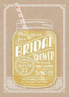 """""""Summer Sippin'"""" - Whimsical & Funny, Hand Drawn Bridal Shower Invitations…"""
