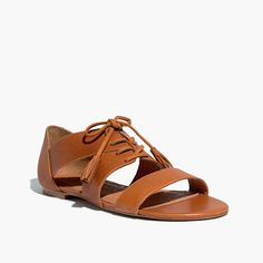Madewell et Sézane® Ulysses Lace-Up Sandals