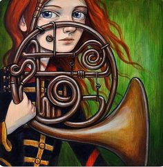 Kelly Vivanco   ACRYLIC   Horn