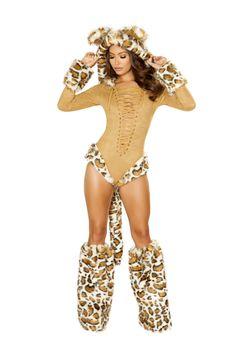 3e0c0bbc0a86 Sexy Roma Honey Beige Brown Leopard Princess Kitty Cat Kitten Kitty Jungle  Animal Cosplay Fancy Halloween