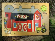 Vintage Childs Puzzle Fisher Price Barn 1971 by jclairep on Etsy, $14.00