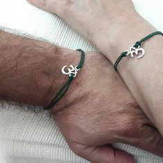 Boyfriend Girlfriend, , Couples Set, Love Bracelet, Mr and Mrs, His and Her bracelet, Boyfriend Gift, Girlfriend Gift, Gift for Couple, Om  The product here is one set of two bracelets. (Unisex bracelets set) Boyfriend girlfriend bracelet set can symbolize your love and commitment to each other. This set of two cord bracelets is a wonderful and touching gift for A special date such as an anniversary, wedding, valentine, birthday or any other date with a special reason to remember.   MATERIAL…
