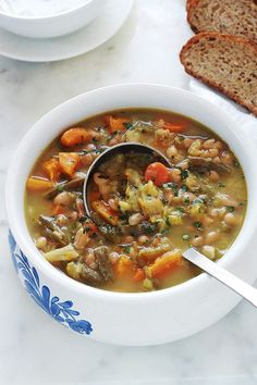 Ideas For Soup Legumes Chou Vegetarian Recipes, Healthy Recipes, Frijoles, Soup And Sandwich, Gazpacho, Top Recipes, Healthy Soup, Soups And Stews, Snacks