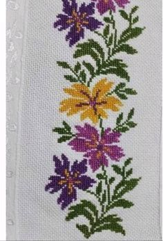 Cross Stitch, Home Decor, Embroidered Towels, Bath Linens, Face Towel, Herb, Cross Stitch Patterns, Quilt Cover, Cross Stitch Embroidery