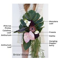 """Everything you need to create our tropical wedding bouquet. Our """"Perfect Paradise"""" collection includes DIY wedding flowers that brides arrange. Tropical Wedding Bouquets, Diy Wedding Bouquet, Diy Bouquet, Diy Wedding Flowers, Bridesmaid Bouquet, Bridal Bouquets, Diy Flowers, Wedding Decor, Wedding Stuff"""