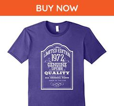 Mens Cool 1972 T-Shirts. 45th Birthday Ideas for Men/Women XL Purple - Birthday shirts (*Amazon Partner-Link)