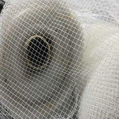 20m White Large Hole Stiff BIRD CAGE Netting TULLE Dress Underskirts Hats Fabric