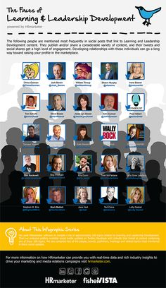 Infographic — The Faces of Learning & Leadership Development - HRmarketer. Honored to be among those chosen Leadership Activities, Leadership Coaching, Leadership Development, Leadership Quotes, Life Coach Training, Education And Training, Learning Organization, Employee Engagement, Learning To Be