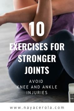 This is a guide with 10 different exercises that will help you get stronger joints to avoid injuries joints exercises/ exercises /at home workouts /workout for beginners At Home Workouts For Women, Beginner Workout At Home, Workout For Beginners, Stretching Exercises, Fitness Exercises, Fitness Tips, Different Exercises, Weight Training, Strength Training