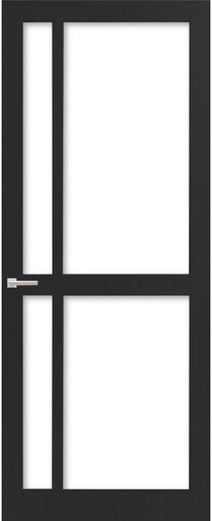 WK6361 C - Industriële binnendeur met een strak, modern, stoer en tijdloos design. Kenmerkend voor deze deur is de verfijnde uitstraling en de slanke profilering. Passend in een modern en strak interieur. De deur zorgt voor veel lichtinval en een ruimtelijk karakter. Ook toepasbaar als dubbele deuren of schuifdeur(en). Next At Home, Windows And Doors, Fixer Upper, Projects To Try, House, Curtains, Inspiration, Furniture, Home Decor