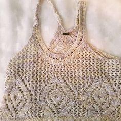 FP Crochet Belly Top *working on it Free People Tops Crop Tops