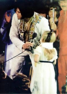 Elvis and Lisa Marie Elvis Presley Concerts, Elvis In Concert, Elvis Presley Photos, Rock And Roll, James Burton, Album Sales, Lisa Marie Presley, Priscilla Presley, Graceland