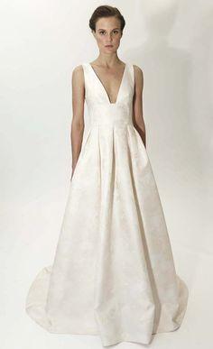 Chic wedding gown | Lela Rose #bridal spring 2015 #fashion