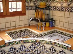 Corner traditional Talavera kitchen sink - Romantic Luxury - Perfect Location - Affordable! -  - rentals