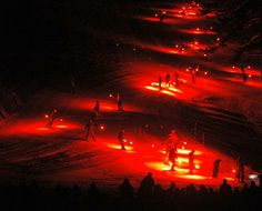 New Year's Eve torchlight parade at Mt. Rose.