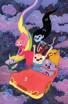 Adventure Time Cover C by Victoria Maderna Comic Art Lumpy Space Princess, Adventure Time Anime, Culture Pop, Geek Culture, Gumball, Fanart, Teen Titans, Cartoon Network, Adveture Time