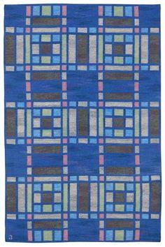 Swedish flatweave rug.