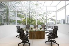 Eco friendly office conference room.