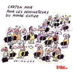Je suis Charlie, les dessinateurs en deuil  - Dessin de Chimulus....réépinglé par Maurie Daboux .•*`*•. ❥