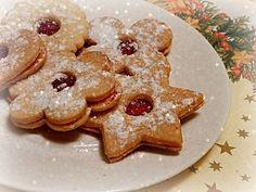 Linecké cukroví s jogurtem - eKucharka.cz Cookies, Desserts, Food, Crack Crackers, Tailgate Desserts, Deserts, Biscuits, Essen, Postres