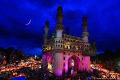 Eid-ul-Fitr festivities in the Old city of Hyderabad, India.