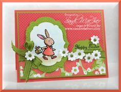still playing with Everybunny Stamp Set from Stampin Up, these images are so much fun to color