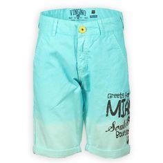 Vingino Kinderkleding Korte broek voor jongens   Mooi groene kleur overloop   Zomer 2014   www.kienk.nl