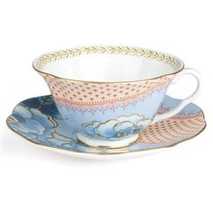Wedgwood - Butterfly Bloom Teacup & Saucer Blue | Peter's of Kensington