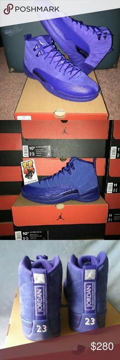 Nike Air Jordan 12 Retro 130690-400 Deep Royal Blu Brand New Jordan Shoes Sneakers