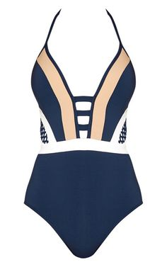 chick navy one piece