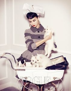 """Pet Your Girl"" by Kim Bo Sung for Vogue Korea"