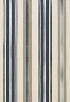 Fabric | Fjord Stripe in Indigo | Schumacher