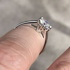 """37 Likes, 3 Comments - MoissaniteCo.com (@moissaniteco) on Instagram: """"sol355 - 7mm (1.25ct) round Hearts & Arrows colorless Moissanite center stone, set in platinum,…"""""""