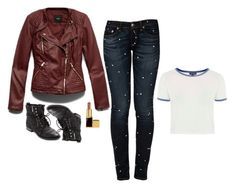 """""""Malia Tate Inspired Outfit"""" by daniellakresovic ❤ liked on Polyvore featuring rag & bone/JEAN, Forever 21, Sam Edelman and Tom Ford"""