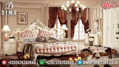 Ukiran Klasik Jepara Kamar Set Tempat Tidur Mewah New Ivory Dewi DF-1328