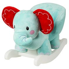 So cute and cuddly, this gorgeous elephant rocking pal will soon become your baby's best friend. It features a sturdy rocking base, comfortable, easy...