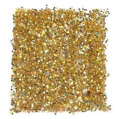 Vegas (Solid Size #3) is a Medium cut gold glitter with iridescent rainbow highlights. (4g - 0.14oz)  Use this with LIT Clearly Liquid Glitter Base for a more concentrated and precise application.
