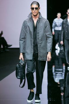 A look from the Emporio Armani Spring 2015 Menswear collection.