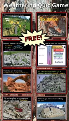 This is a FREE 130 slide PowerPoint Review Game about Mechanical and Chemical Weathering. Answers and sheet are provided.- Enjoy!