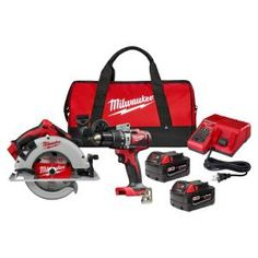 Milwaukee M18 FUEL 18-Volt 7-1/4 in. Lithium-Ion Cordless Rear Handle Circular Saw Kit with 12.0 Ah Battery and Rapid Charger-2830-21HD - The Home Depot Cordless Circular Saw, Circular Saw Blades, Milwaukee Power Tools, Cordless Hammer Drill, Milwaukee M18, Electronic Recycling, Led Work Light, Drill Driver, How To Run Longer