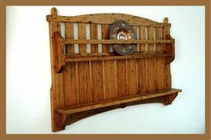I had some old 100 year old reclaimed wormy chestnut and I decided to make this Stickley style plate rack out of it. & Large Wooden Plate Rack with Drawers in Red | Lighing | Pinterest ...