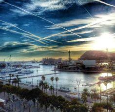 Barcelona port from Montjuïc