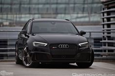 Unique Audi Photography: The sinister All black everything. Audi Rs3, A4 Avant, All Black Everything, Audi Quattro, Vehicles, Black Cars, Pumping, A3, Places