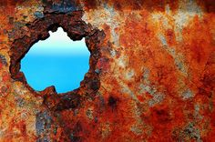 A taste of sky Bill Mangold World Of Color, Color Of Life, Texture Photography, Photography Ideas, Rust Never Sleeps, Bowls, Peeling Paint, Fire Heart, Different Textures