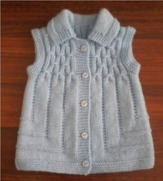 This Pin was discovered by Hab Baby Knitting Patterns, Knitting For Kids, Easy Knitting, Knitting Designs, Baby Cardigan, Baby Pullover, Baby Sweaters, Girls Sweaters, Crochet Girls