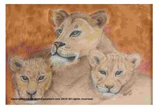 Lioness And Cubs, Free Advertising, Artist Gallery, Canvas Frame, Art For Sale, Online Art, Art Photography, Africa, Artwork