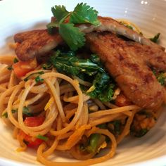 Asian Peanut Noodles with Tempeh